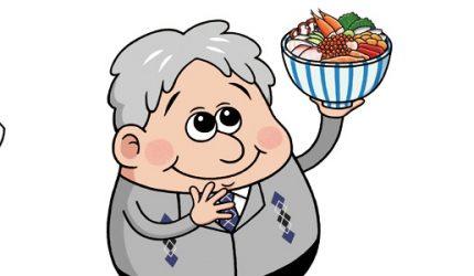 ナッセとCOLTのコラボキャラクター「海鮮丼おじさん」イラスト紙面に登場