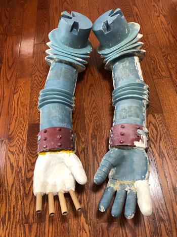 ジャイアントロボ腕の修復