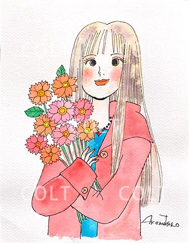 お花が大好きな友達のお誕生日